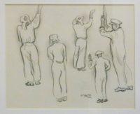 34.-Peter-Clarke-Pencil-Drawing-1952-17cm-x-21cm.