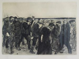 Kathë Kollwitz (1867 – 1945) Weavers on the march, 1897 Etching 34 x 25 cm