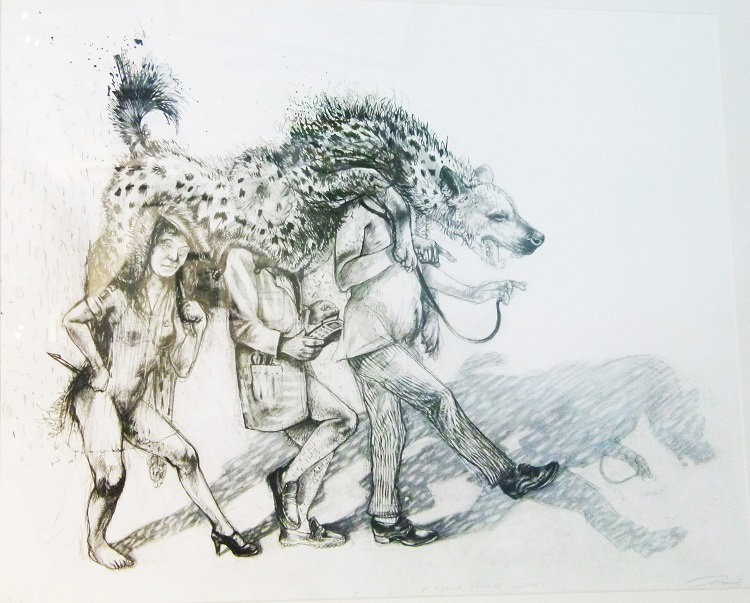 Diane Victor, SA ( 1964 - ), A Hyena Skin of Doctors , Lithograph 44-45, Signed 2014, 45cm x 33cm