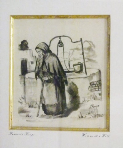 Francois Krige, SA (1913-1994) Woman at a Well Pencil on paper 20cm x 23cm