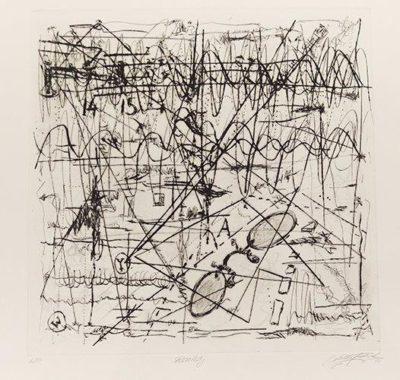 Mischa Fritsch (1970 - ) Reality, 2014 Drypoint 2/10 57 x 53 cm