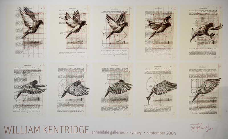 "William Kentridge (1955 - ) ""Annandale Galleries exhibition poster"" Lithograph 54 x 88 cm"