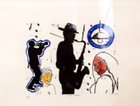 Wayne Cahill Barker, SA, 1963- Jozi Jazz, signed 2006 Lithograph, 6 of 9 41cm x 30,5cm
