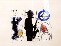 Wayne Cahill Barker, SA, 1963- Jozi Jazz, signed 2006 Lithograph, 6 of 9 41cm x 30,5cm