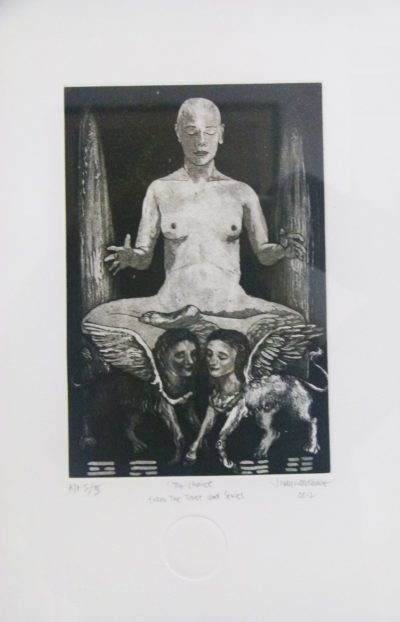 PPG 153 Judy Woodborne, SA 1966 -, The Chariot, signed 2012 Etching artist's proof I of I, 13cm x 20cm