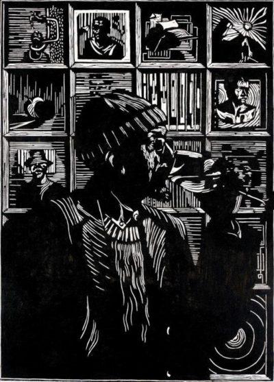 Zolani Siphungela (1986 - ) Peter Clarke, 2013 Woodcut , 3/10 90 x 65 cm