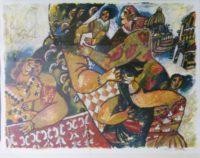Theo Tobiasse,Israel (1927 - 2012),Ou Sont Testes Les Rois de Babylone, 71-200 signed, 76 x 57cm