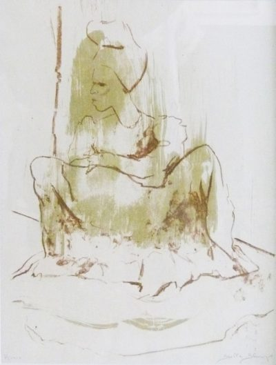 Stella Shawin,SA(1923 - ), Herero, Lithograph, 41cm x 50cm