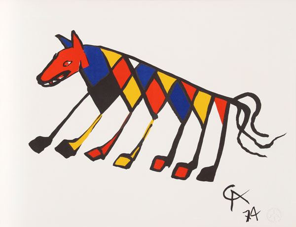Alexander Calder American, 1898- 1976 Flying Colour series, 1974 Lithograph, signed in print 51cm x 66cm SOLD