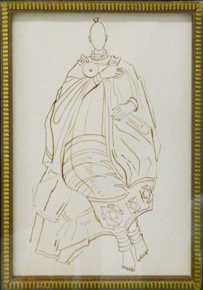 Alexis Preller, SA (1911 - 1975 ), Pen Drawing , signed , 13cm x 18cm