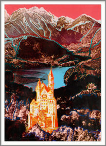 Andy Warhol, USA, 1928- 1987 Neuschwanstein, signed 1987 Screenprint in colours on paper 50cm x 89cm