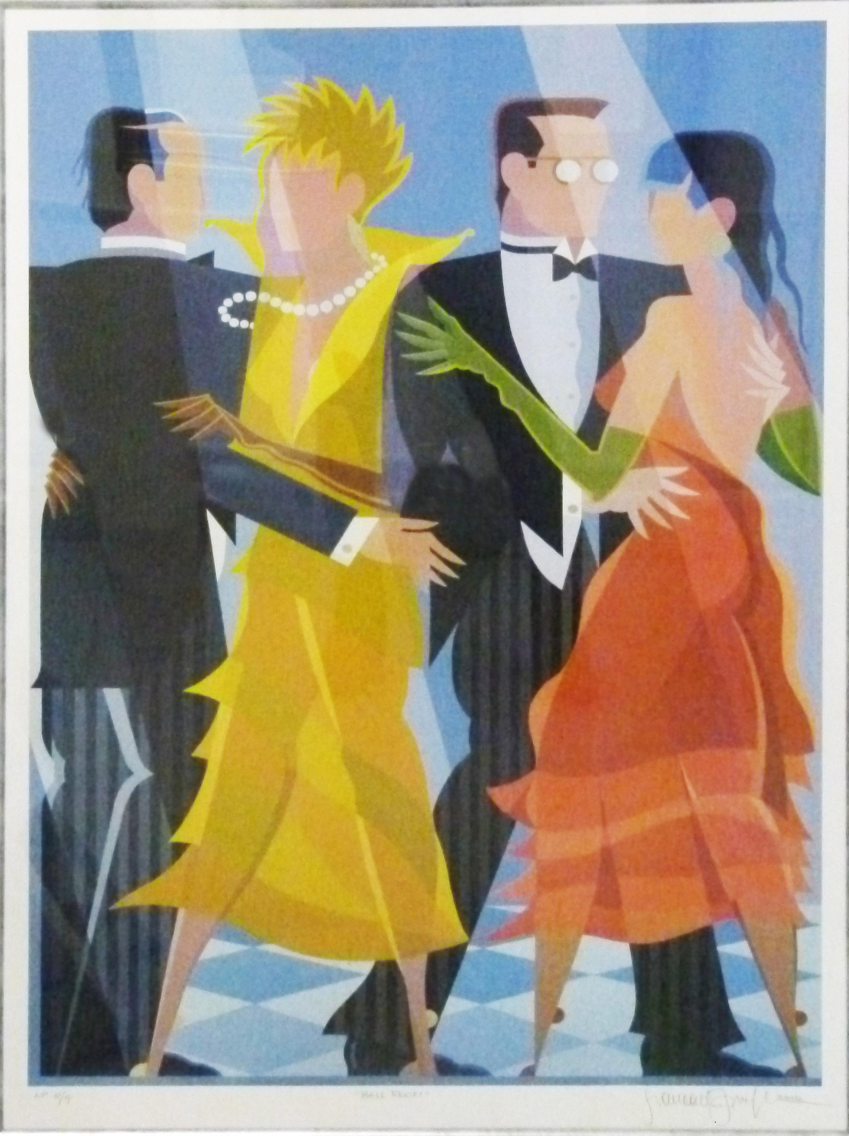 Giancarlo Impiglia, Italian (1940-) Ball Room, 2004, Lithograph signed 8-9, 58cm x 87cm