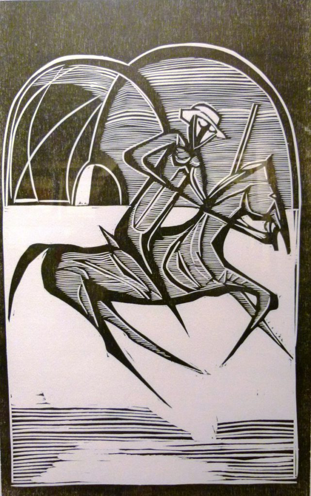 Cecil Skotnes,SA ( 1926 - 2009), The Assassination of Shaka Series 33, Woodcut Trial, 29,5cm x 46,5cm, SOLD