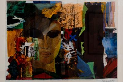 Edith Frances Bullen, SA (1939 - ) Reflections in a dark Window Mixed Media on paper 85cm x 62cm