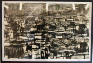 Asanda Kupa, SA(1981 - ), Untitled, 2016, Charcoal on paper, signed, 100cm x 65cm