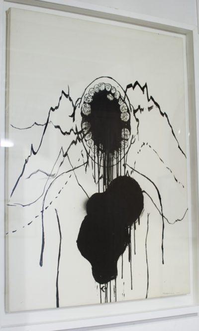 Zander Blom, SA 1982 - Untitled Mixed media on paper, signed 2006 60cm x 84cm