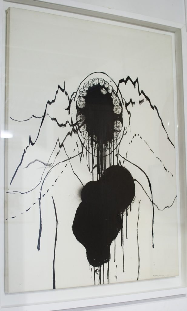 Zander Blom, SA 1982 - Untitled Mixed media on paper, signed 2006 60cm x 84cm