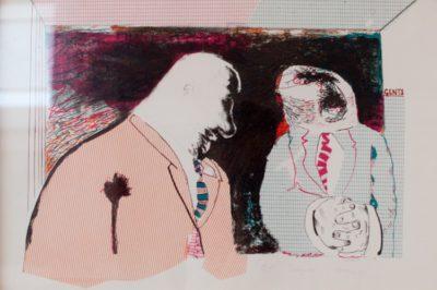 Robert Hodgins, SA,1920- 2010 Codgers, signed 1990 Colour lithograph, 5 of 15, 44cm x 31cm