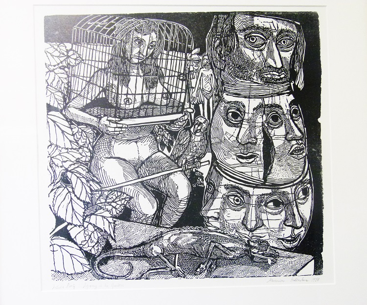 Alexander Podlashuc, (SA, 1930-2009) Agony in the Garden, 1978 Artist's proof woodcut, signed 33cm x 34,5cm
