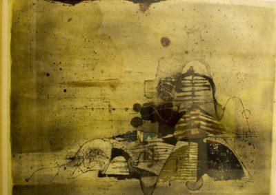 James Coignard, French, 1925-1997 Carborandum etching, signed 78 of 95, 83cm x 68.5cm