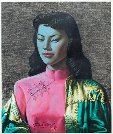 Vladimir Tretchikoff, Russian South Africa 1913-2006 Miss Wong, 1978 Colour print, signed and dedicated 1978, 52cm x 66cm