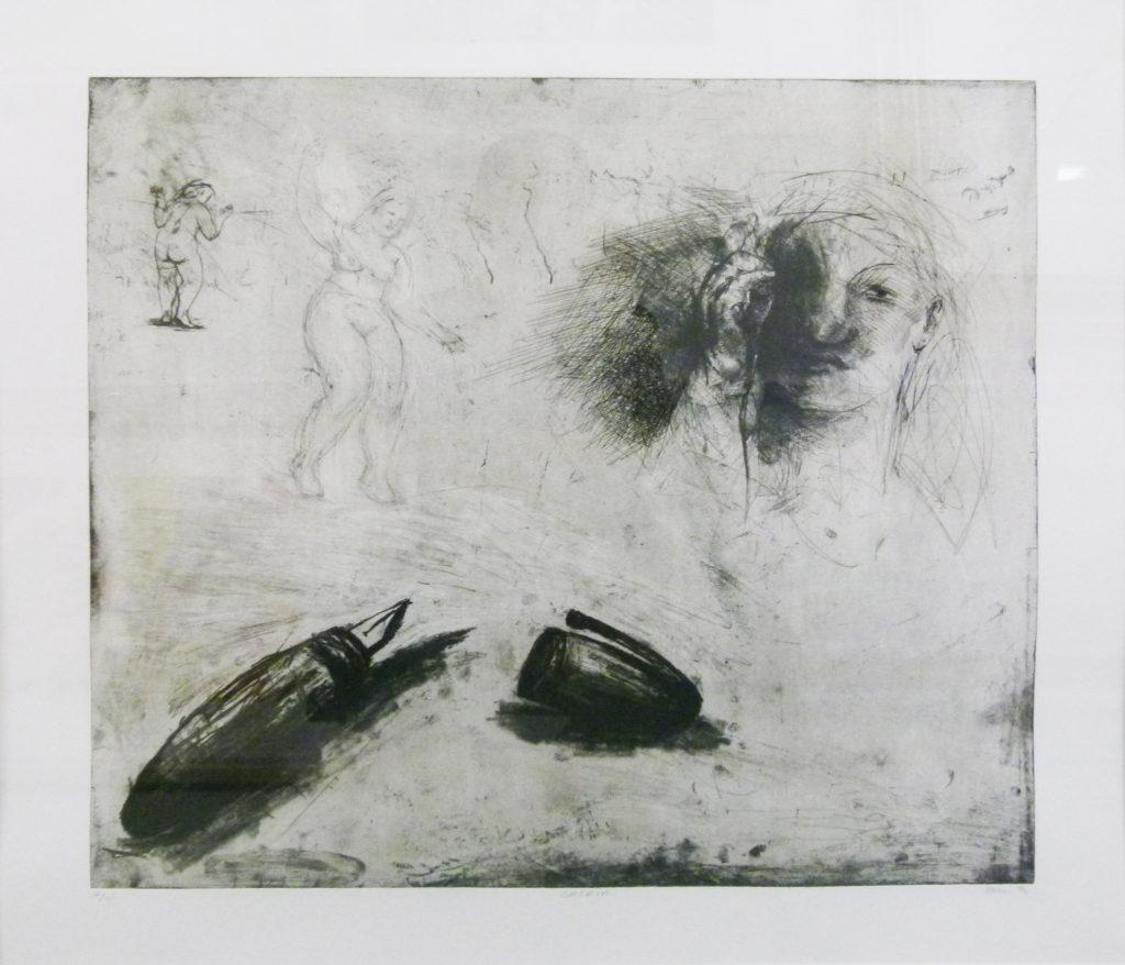 Deborah Bell , SA(1957 -) , Saskia, Etching16-45, signed 1994, 54cm x 50cm.