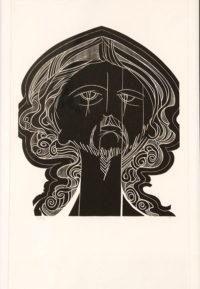 Raymond Hillary Andrews, SA (1948-) The Warrior, signed Woodcut, 9/30 42,50cm x 60cm