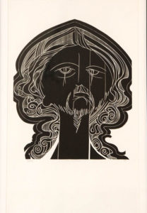 Raymond Hillary Andrews, SA (1948-) The Warrior, signed Woodcut, 9/30 42,50cm x 60cm