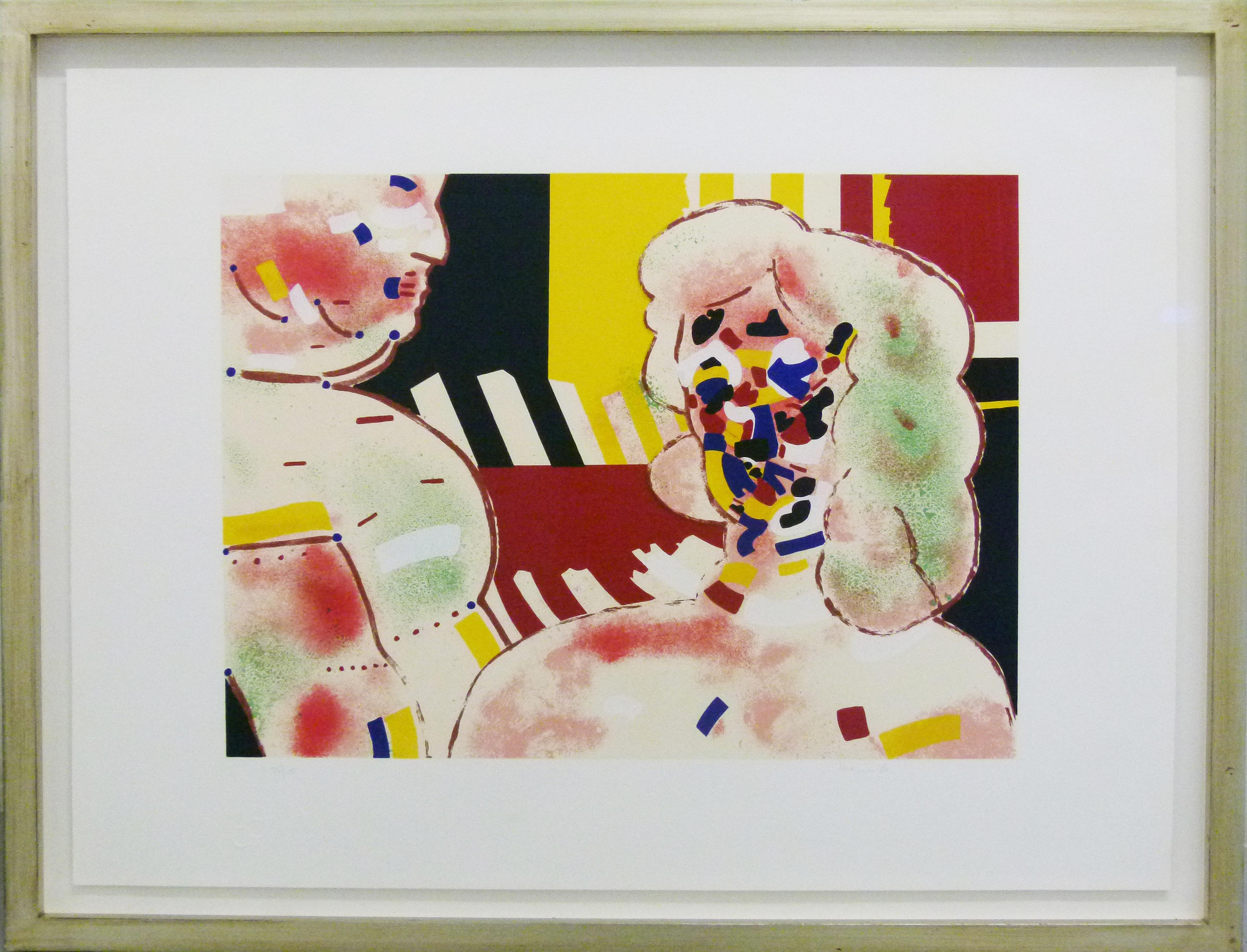 Robert Hodgins, UK-SA (1920- 2010), Encounter, Screenprint 75-100, signed,40cm x 49cm.