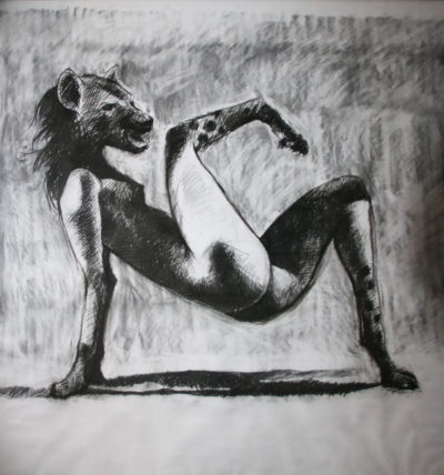 Ronald Muchatuta, Zimbabwe/SA (1980-) Shanduka I / Transformation I, 2014 Charcoal on paper 158cm x 149cm