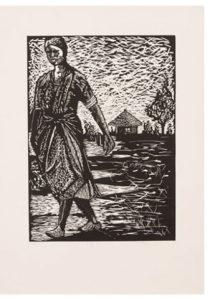 Dzunisani Maluleke, SA (1986-) Eliya Kwihi ( I), 2013 Linocut 3/10 35,5 cm x 50cm