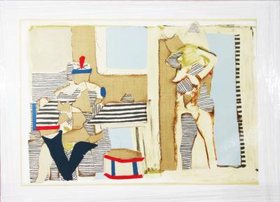 Conrad Marca-Relli, American (1913-2000) Untitled- Drummer and Nude, 1982 Lithograph 31/150 80cm x 66cm