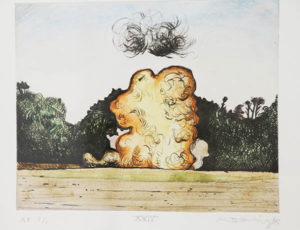 Mathew Hindley, SA (1974- ) Formation & the Distant Cloud, XXIV, signed 2016 Drypoint Etching, A/P 1/1 28cm x 33cm