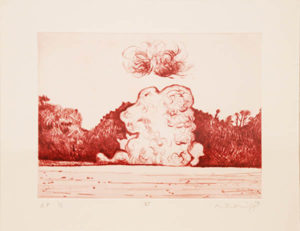 Mathew Hindley, SA (1974- ) Formation & the Distant Cloud, VI, signed 2016 Drypoint Etching, A/P 1/1 28cm x 33cm