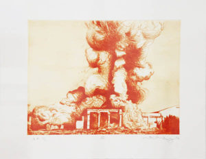 Mathew Hindley, SA (1974- ) Formation & the Distant Cloud, II, signed 2016 Drypoint Etching, A/P 1/1 28cm x 33cm