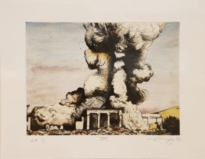 Mathew Hindley, SA (1974- ) Formation & the Distant Cloud, XX, signed 2016 Drypoint Etching, A/P 1/1 28cm x 33cm