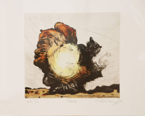Mathew Hindley, SA (1974- ) Formation & the Distant Cloud, XXIII, signed 2016 Drypoint Etching, A/P 1/1 28cm x 33cm