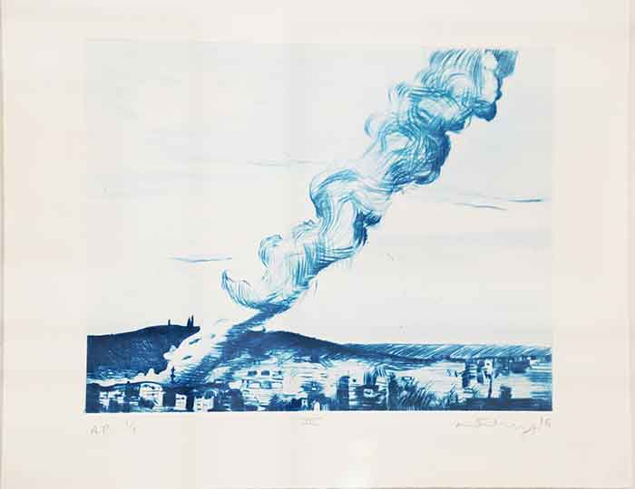 Mathew Hindley, SA (1974- ) Formation & the Distant Cloud, III, signed 2016