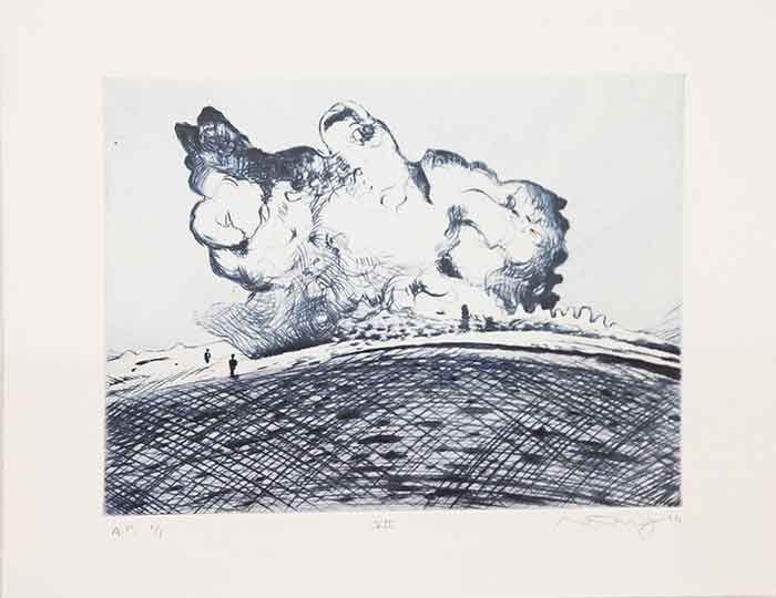 Mathew Hindley, SA (1974- ) Formation & the Distant Cloud, VII, signed 2016