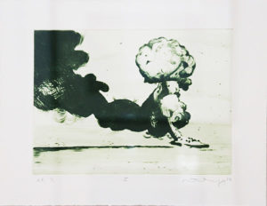 Mathew Hindley, SA (1974- ) Formation & the Distant Cloud, I, signed 2016 Drypoint Etching, A/P 1/1 28cm x 33cm