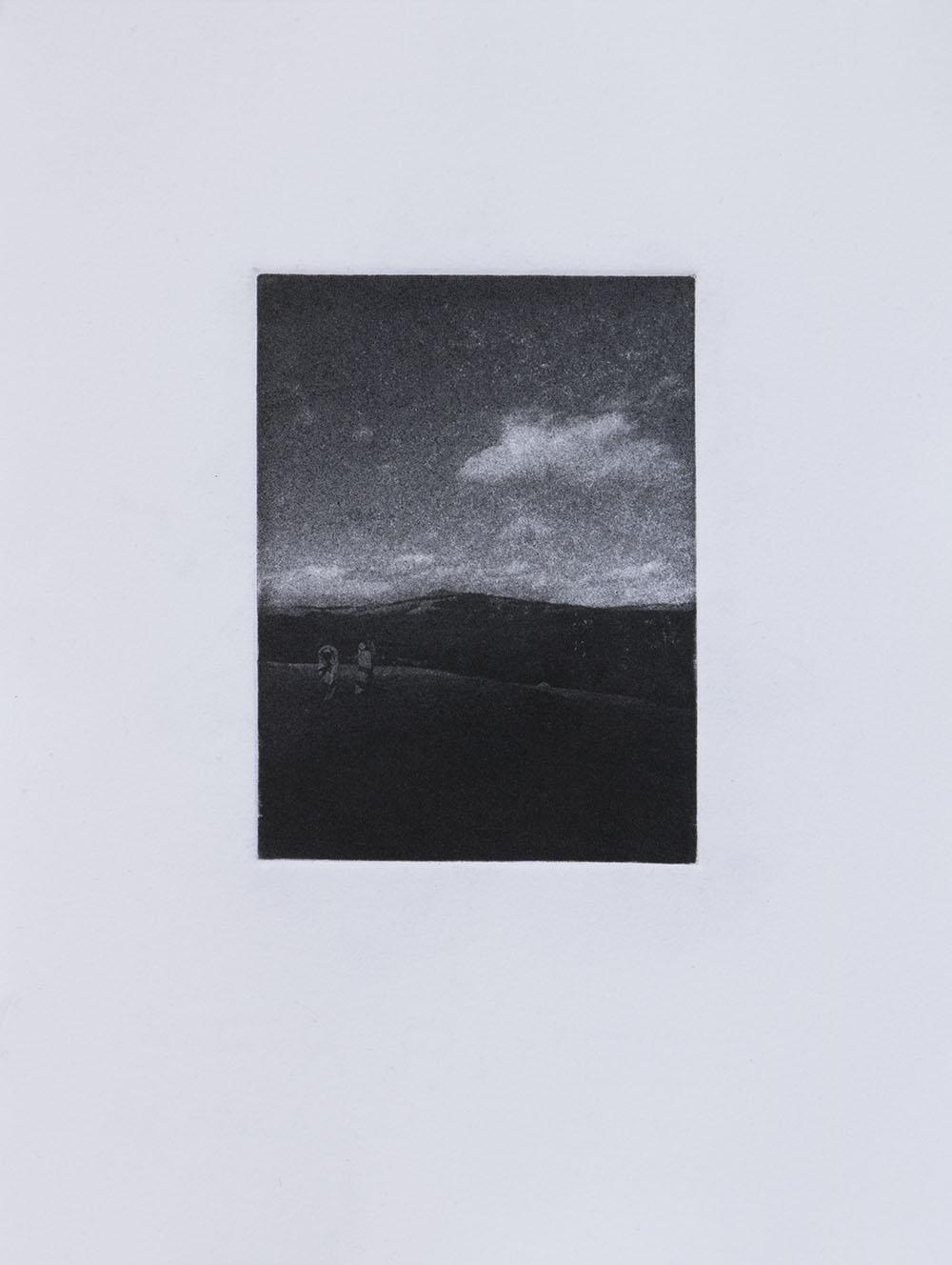 Inga Somdyala The Righteous Path 2017 Etching - Edition of 5 + 3 AP 20,5 x 15,5 cm