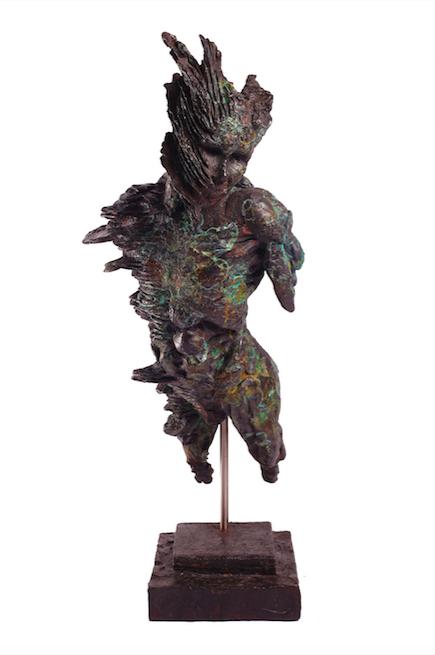 Stanislaw Trzebinski-Fan Coral Figure2014 Bronze Edition1of7 42cm x 19,5cm x 11cm