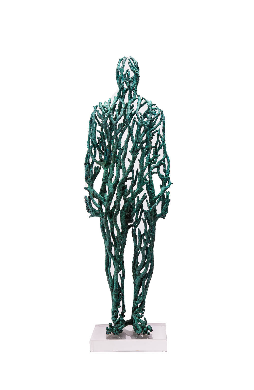 Stanislaw Trzebinski Home Grown - Full Coral Figure VI, 2017 (Collaboration with Charles Haupt) Bronze Edition 1/7 75cm x 20cm x 20cm
