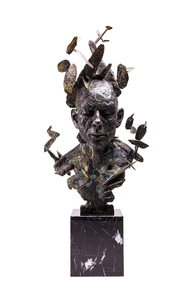 Stanislaw Trzebinski Vires Portrait 2016 Bronze Edition 1/10 2AP, 90cm x 45cm x 40cm