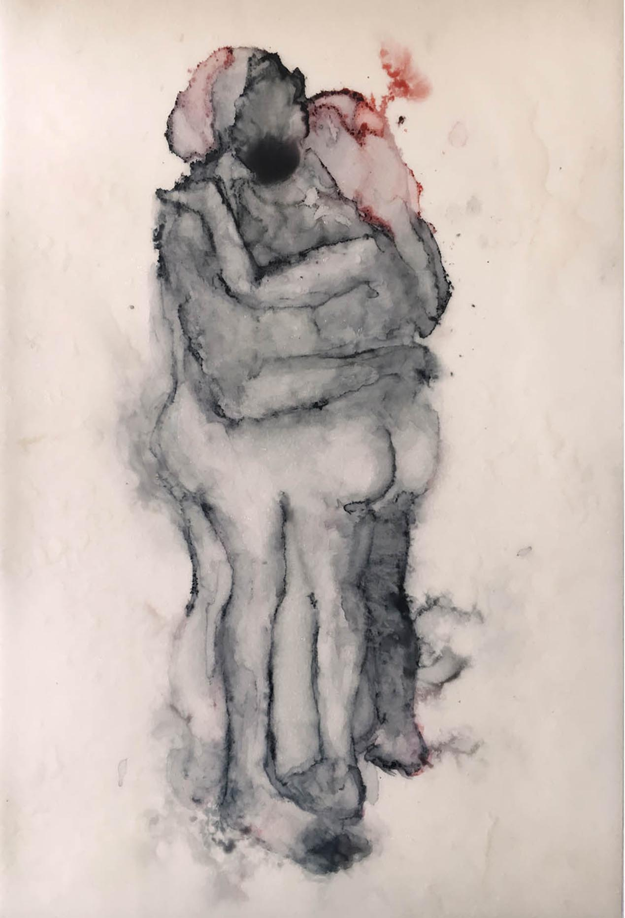 Sue Greeff - Eve and her mate 2017 Giclé print on epson smooth paper Edition - 1 of 10 , 25 cm x 17 cm