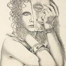 Armando Baldinelli - Lady with a Mask, 1980