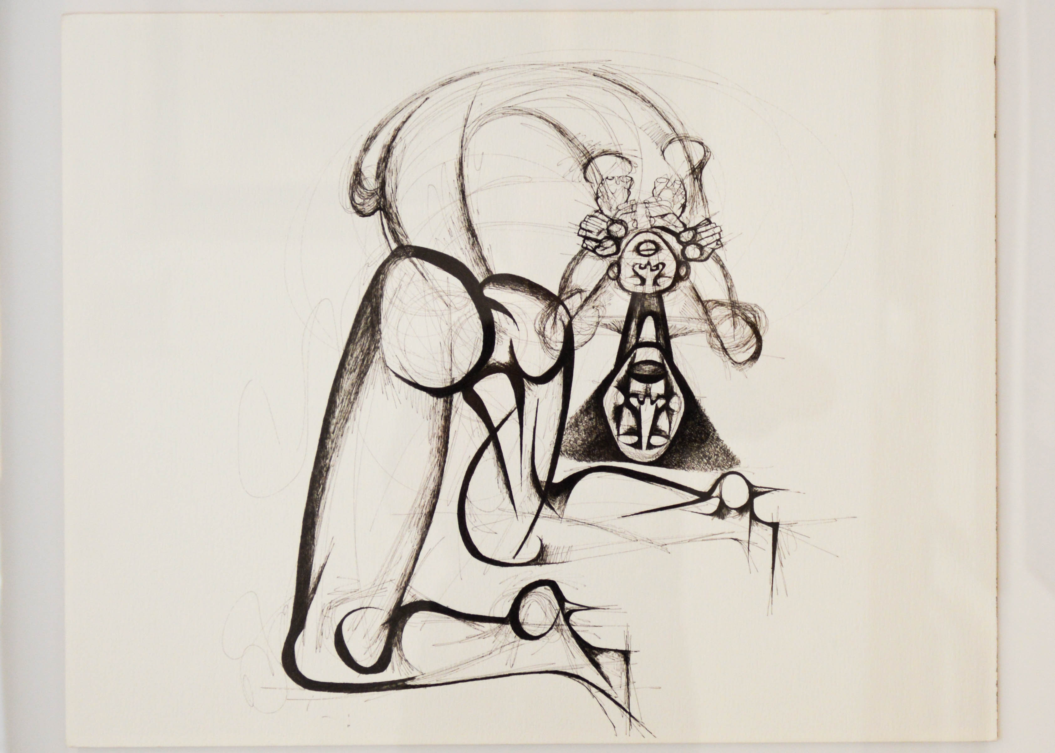 Dumile Feni (1942 – 1991) Figure and Child Ink on paper 60 x 48 cm