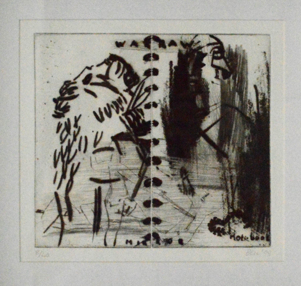 Deborah Bell, SA (1957-) Mirror Notebook, signed 2004 Drypoint etching, roulette 8OF40 24cm x 20cm