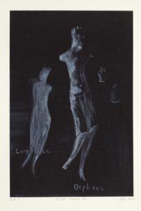Deborah Bell_2Deborah Bell, SA 1957 -, Mirror Matter II, signed 2014 Drypoint on chine colle 20cm x 30cm