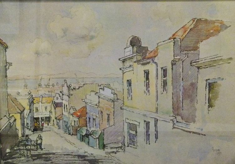 Gregoire Boonzaeir, SA ( 1909 - 2005), District Six, colour photolithograph, 58-350, signed 1974, 58cm x 40cm